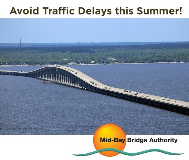 22 May Plan Travel To From The Destin Community Via The Mid Bay Bridge Around Peak Traffic Periods To Avoid Traffic Delays This Summer