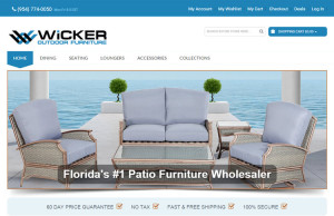 outdoor furniture ecommerce web design
