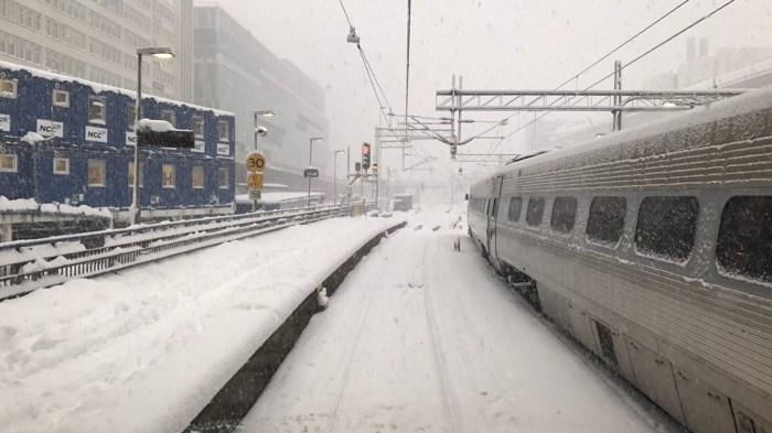Vinter vid Stockholm C