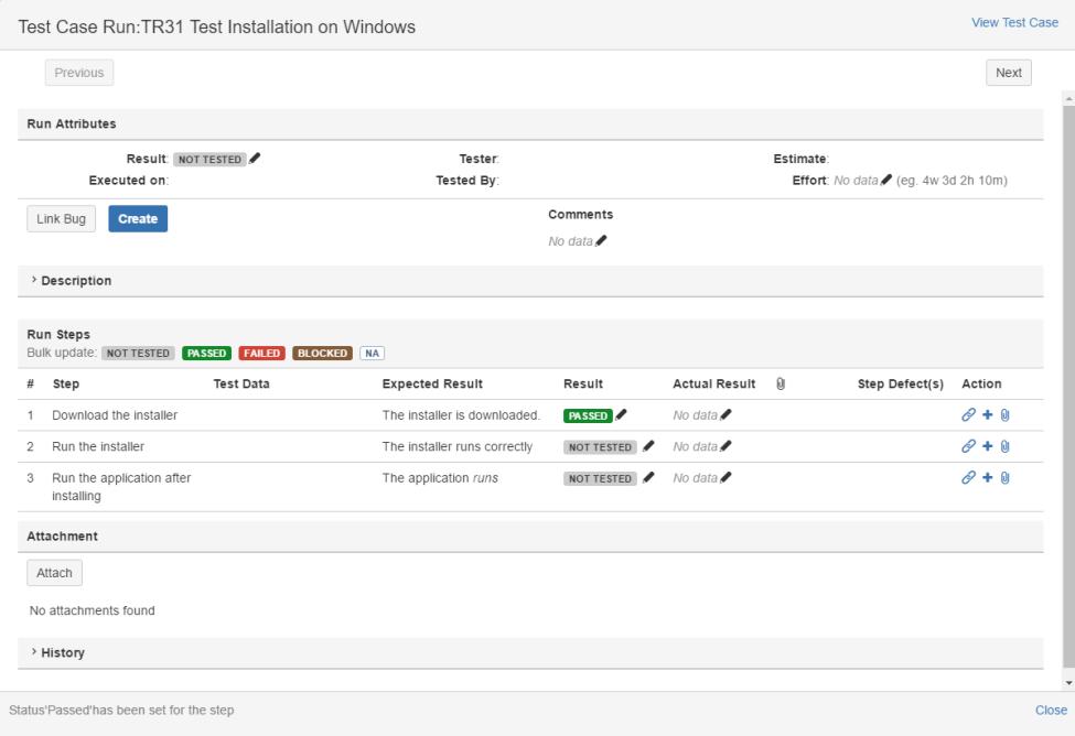 SynapseRT execute Test Case Screen Shot