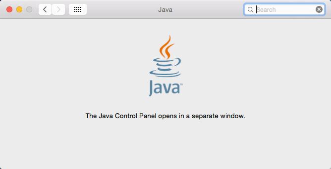 Mac OS X System Preferences Java