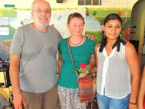 Lothar und Sigrid mit Edilsa bei der Abschlussfeier der Kita