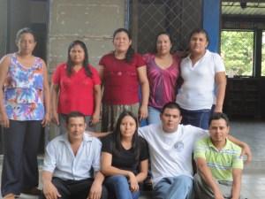 Lehrerkollegium der Schule Amando López