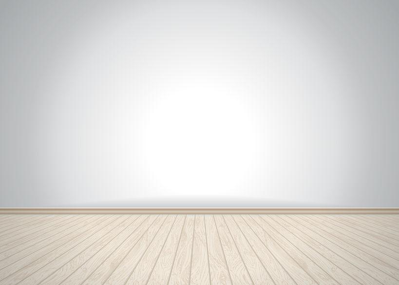 46002104 – empty room with wooden floor, vector illustration