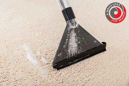 45398339 – close-up of vacuum cleaner on wet rug
