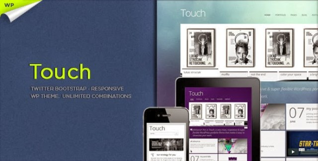 Touch Responsive & Bootstrap WordPress Theme