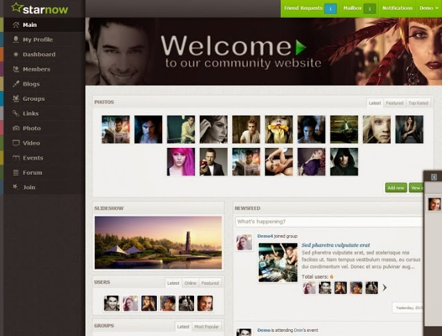 Oxwall themes free download