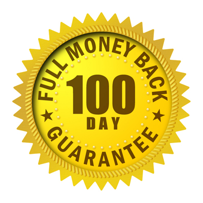 100 day full money back guarantee