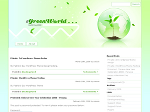 Free WordPress Themes - Earth Day