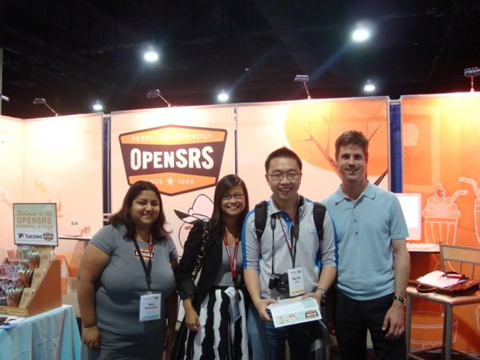 opensrs booth HostingCon 2009