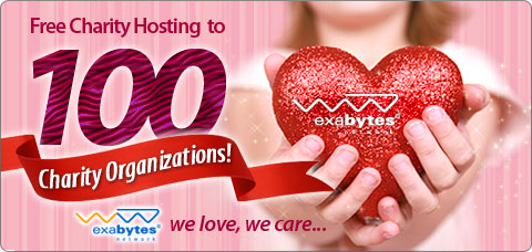 Free Charity Hosting to 100 Charity Organizations