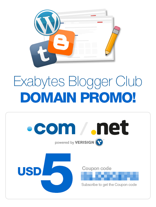 Exabytes Blogger Club Domain Promo