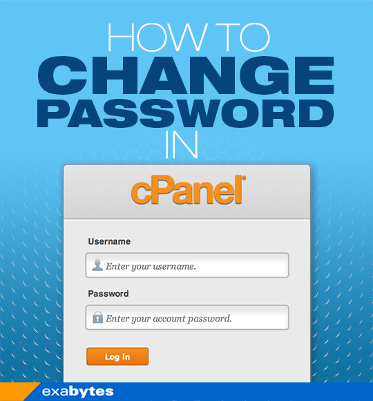 how to change password in cPanel
