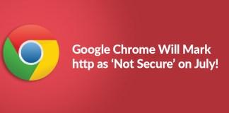 Google Chrome http not secure
