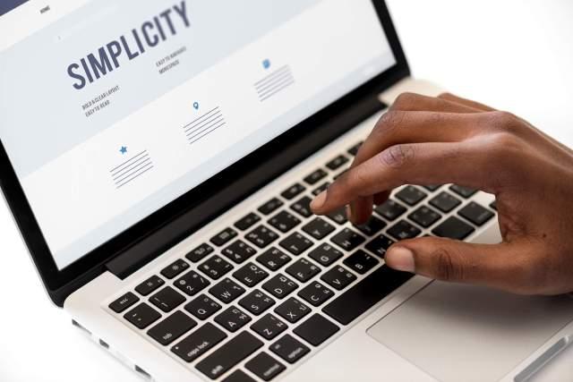 simplicity wording in laptop