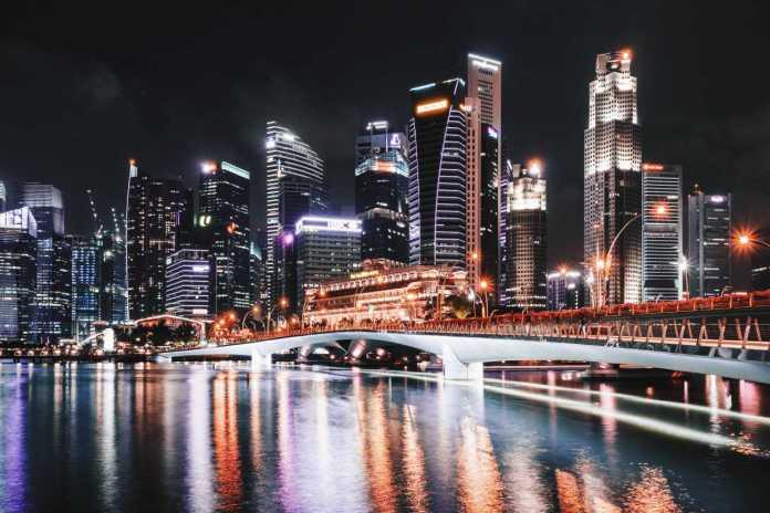 singapore night landscape