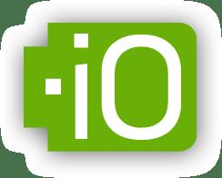 io domain logo