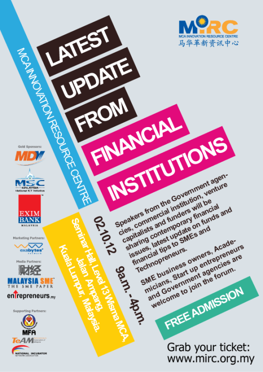 latest update from financial institutions poster