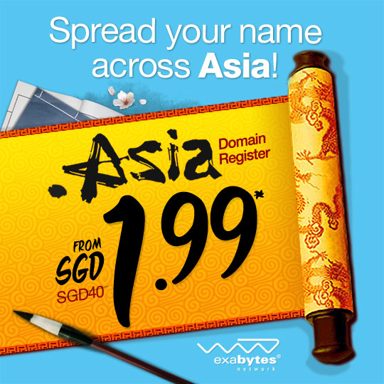 RM3.99 .asia domain name