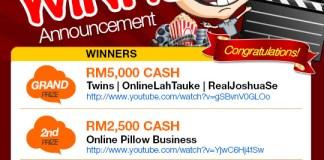 Winner Announcement - OnlineLahTauke Mobile Phone Short Film Making Contest