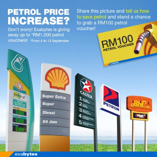 Exabytes petrol price increase promo