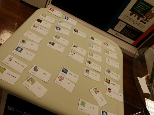 name tags  at Exabytes Oculus Game Jam Japan 2013