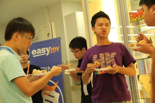 eating during Exabytes Game Jam 2013