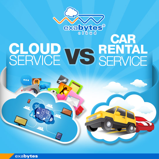 Cloud service vs car rental service