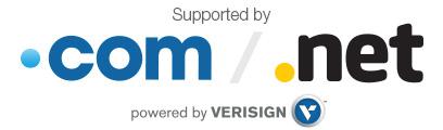 .com .net domain name power by verisign
