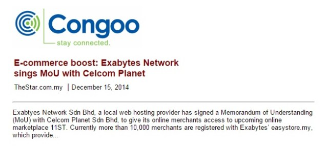 E-commerce boost: Exabytes Network signs MoU with Celcom Planet
