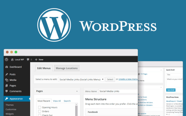 wordpress screen shot