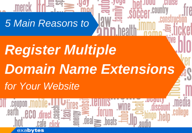 5 main reason to register multiple domain name extension for your website