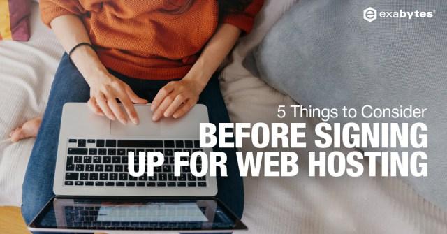 signing up web hosting