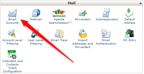 cPanel create new email account