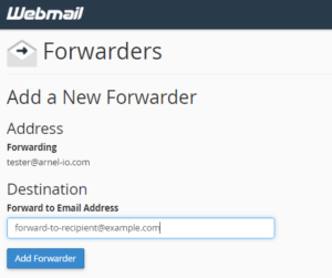 email farward domain