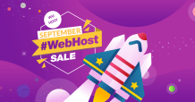 #WebHost Sale September