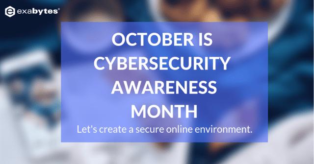OCTOBER IS CYBERSECURITY AWARENESSMONTH