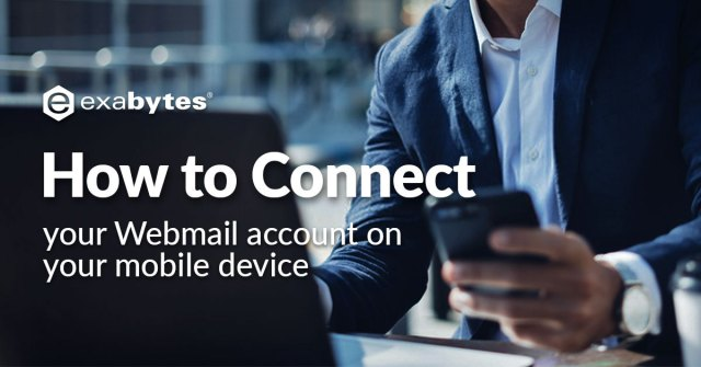 how to connect your webmail account on your mobile device