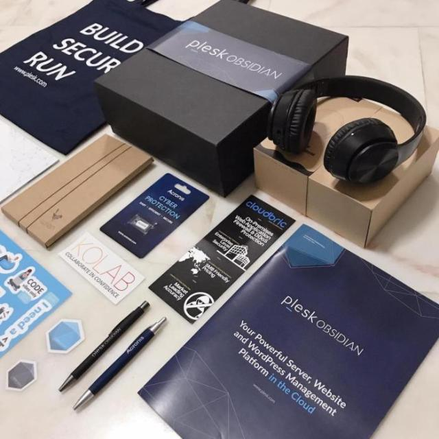 Goodies from Plesk APAC Partner Day 2019