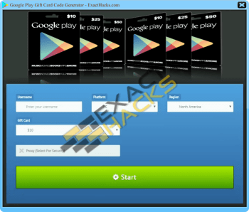 Google Play Gift Card Code Generator 2018