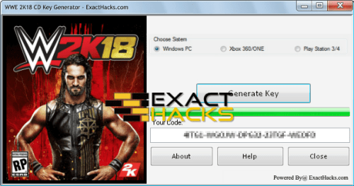 WWE 2K18 CD Key generatorius