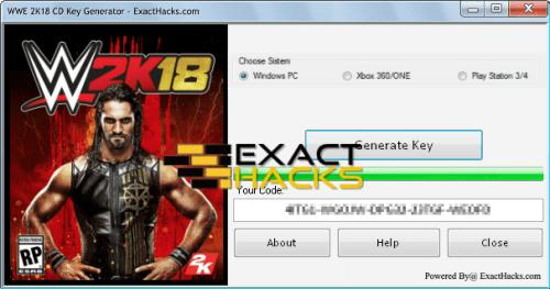 WWE Key Generator CD 2K18