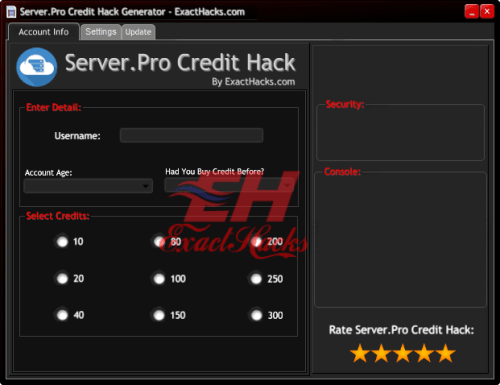 Server.Pro վարկերը Hack գեներատոր 2018