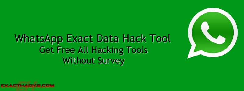 WhatsApp Exact data Hack Alat 2018