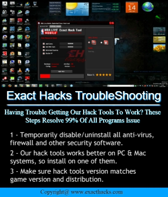 Hacks sakta Troubleshooting