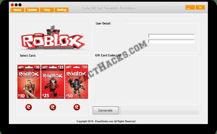 Roblox Generador tarjeta de regalo