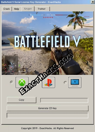 Battlefield 5 Serie Lizentzia Gakoa Generator For Xbox One PS4 PC