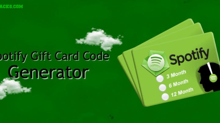 Fresh Spotify Gift Card Code Generator 2020