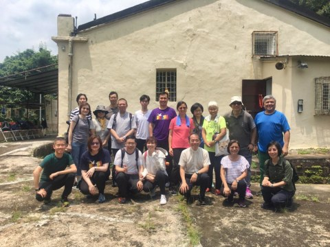 Mission ambassadors on a pilgrimage to Sai Kung led by Father Benedict Lam.