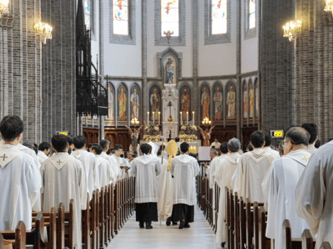 Myeongdong Cathedral during the 2019 World Day of Prayer for the Sanctification of Priests. Photo: Committee for Communications, Archdiocese of Seoul